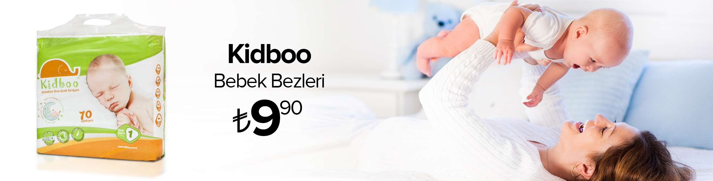 Kidboo Bebek Bezleri 9.90 TL
