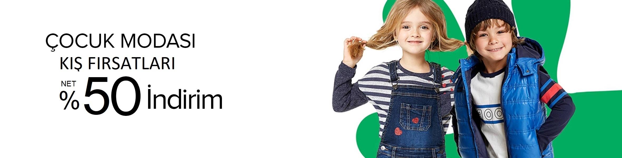Çocuk Modası Kış Fırsatları NET %50 iNDİRİM