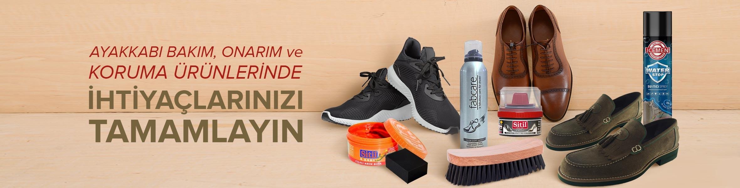 Ayakkabı Bakım , Onarım & Koruma Ürünlerinde İhtiyaçlarınızı Tamamlayın!