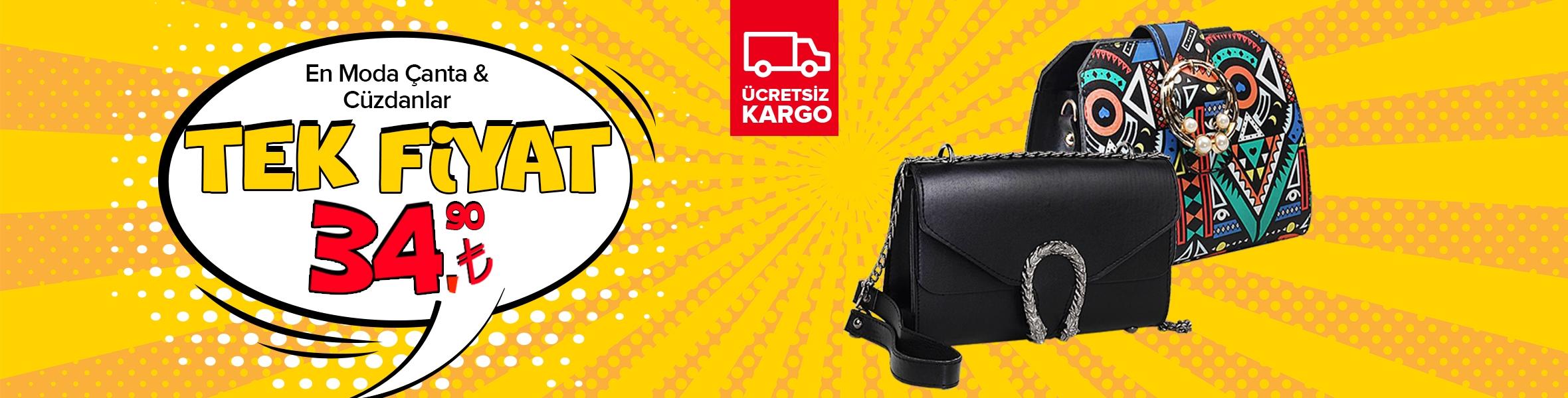 En Moda Çanta & Cüzdanlar Tek Fiyat 34.90 TL