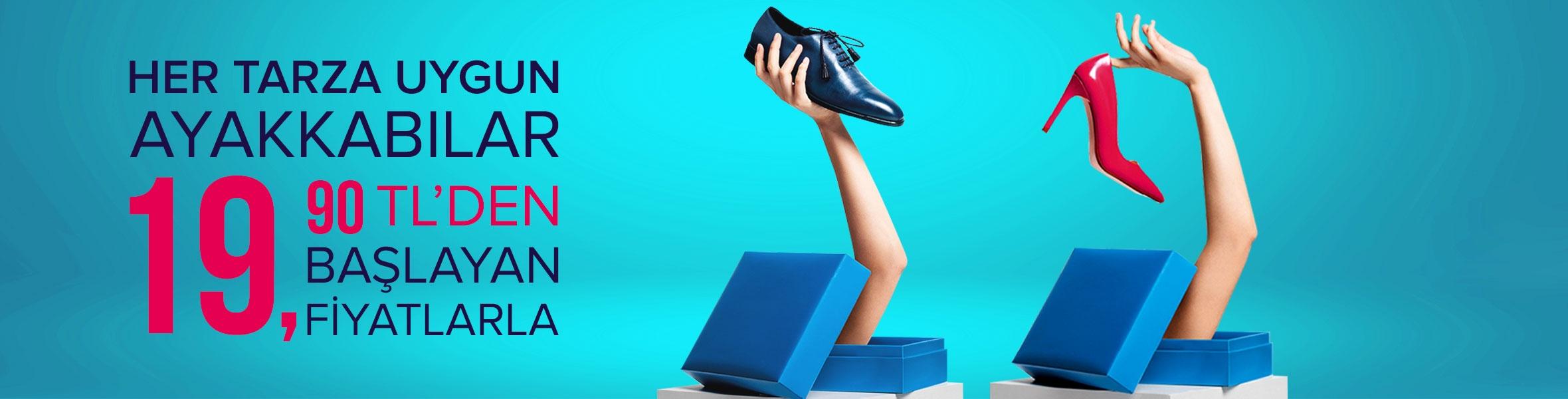 Ayakkabılar 19.90 TL'den Başlayan Fiyatlarla