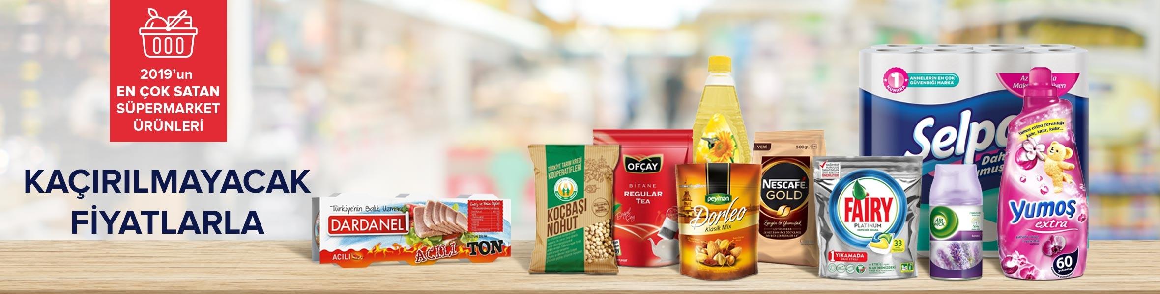 2019 Yılı Süpermarket En Çok Satan Ürünler