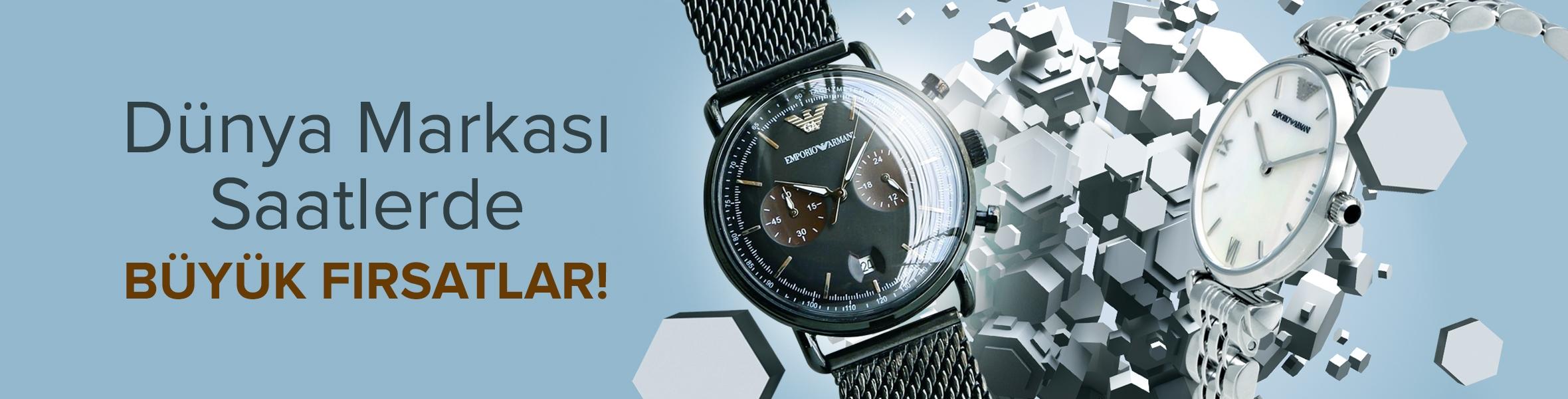Dünya Markası Saatlerde Büyük Fırsatlar !