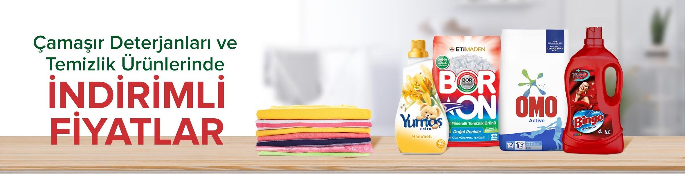 Çamaşır Yıkama Ürünlerinde Uygun Fiyatlar