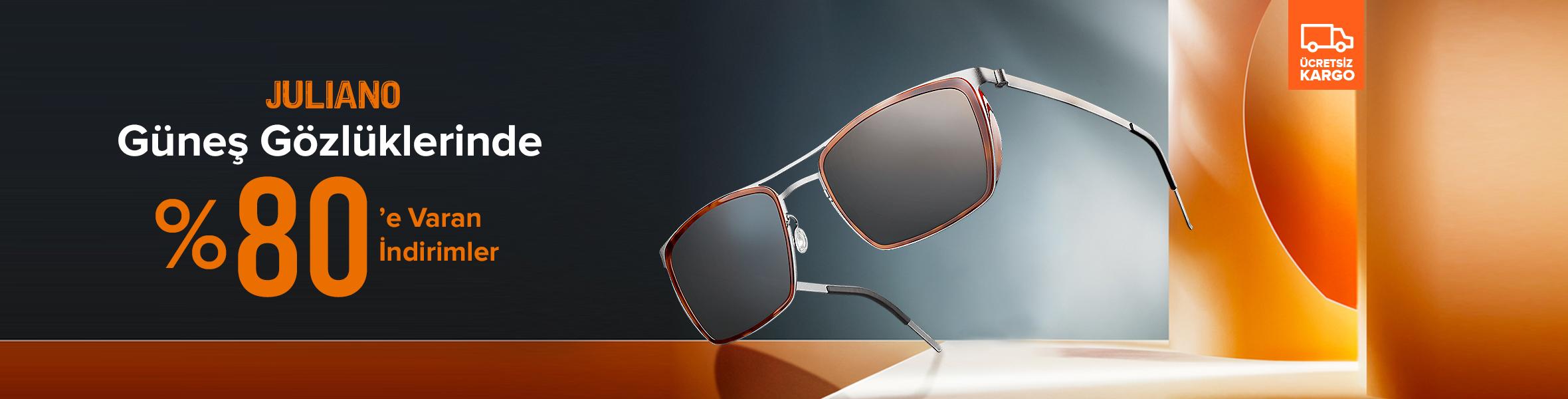 JULIANO Güneş Gözlüklerinde İndirim Fırsatı !