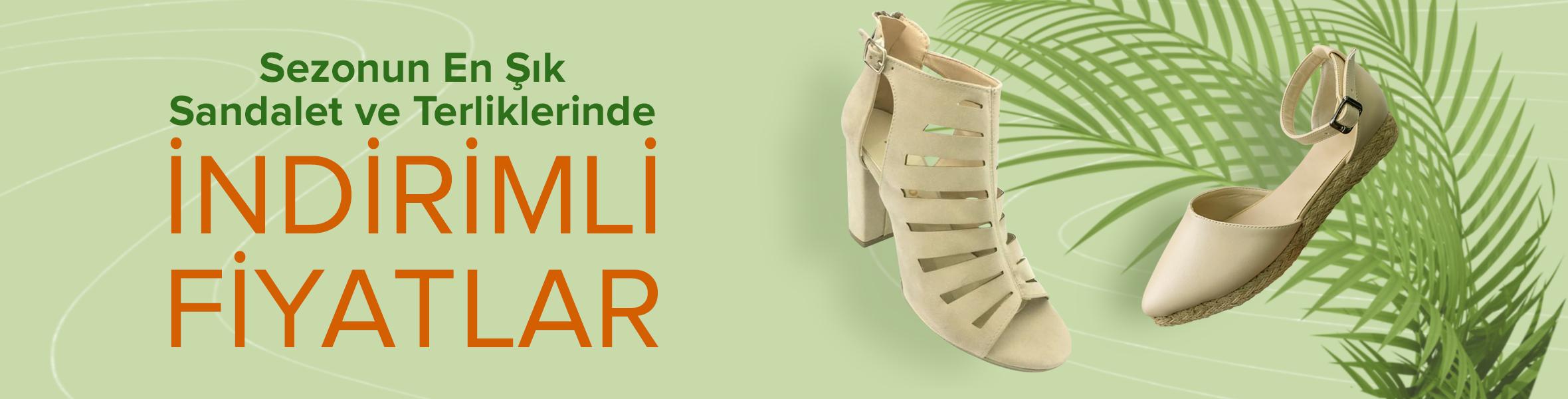 Sezonun En Şık Sandalet ve Terliklerinde İndirimli Fİyatlar