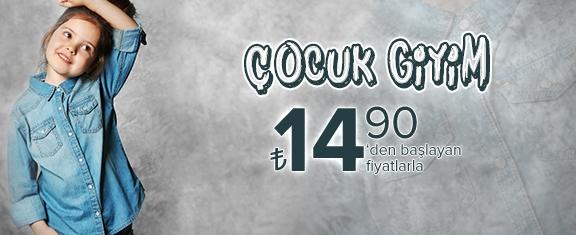 Çocuk Giyim Ürünleri 14.90TL