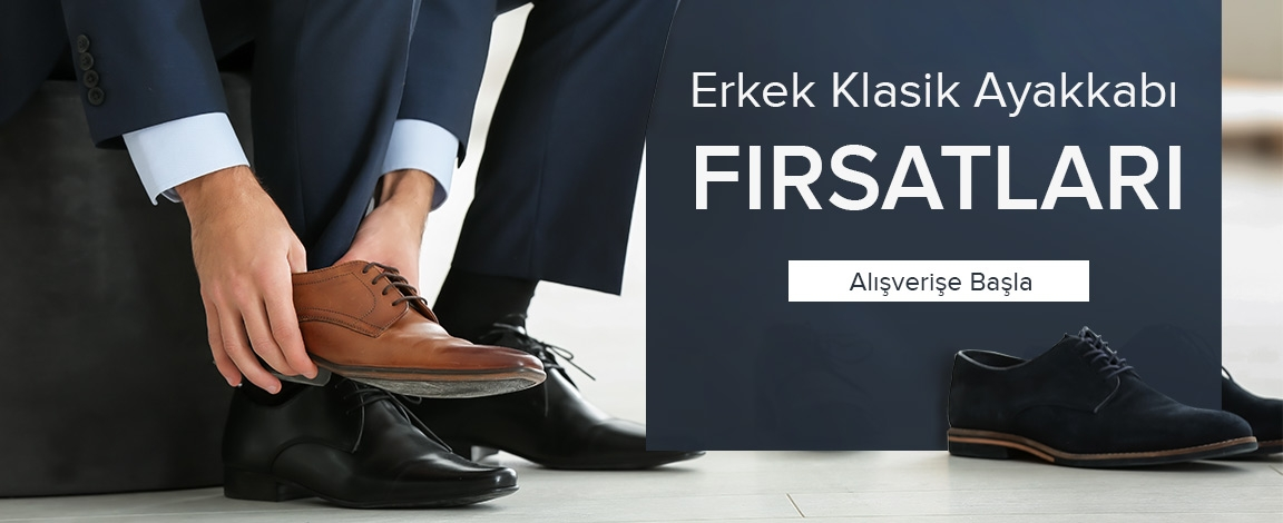 Klasik Erkek Ayakkabılarında Fırsat