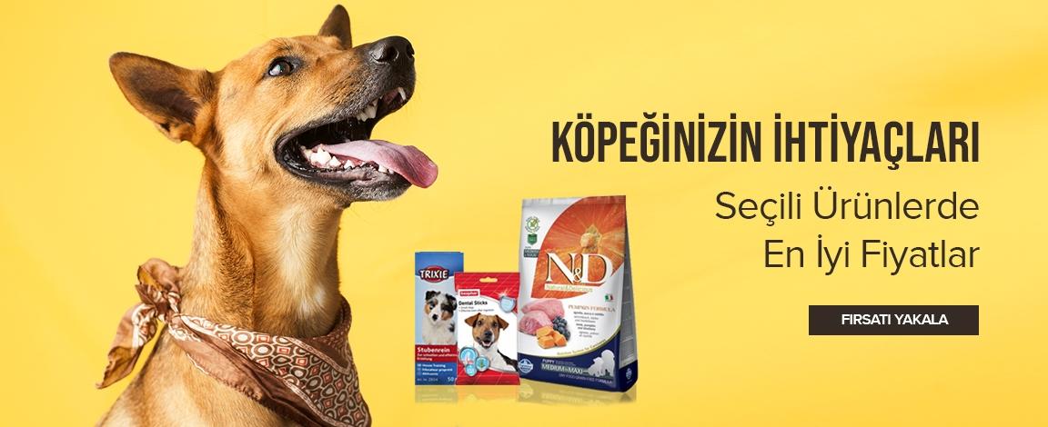 Köpeğinizin İhtiyaçları Seçili Ürünlerde En İyi Fiyatlar