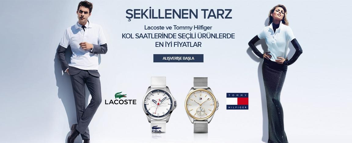 Lacoste ve Tommy Hilfiger Kol Saatlerinde Seçili Ürünlerde En İyi Fiyatlar