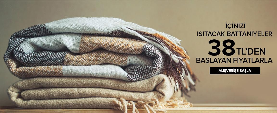İçinizi Isıtacak Battaniyeler 39,90 TL den Başlayan Fiyatlarla