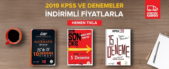 2019 KPSS Soru ve Denemeler İndirimli Fiyatlarla