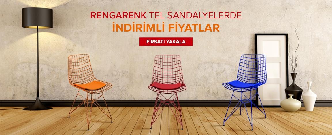Rengarenk Tel Sandalyelerde En İyi  Fiyatlar