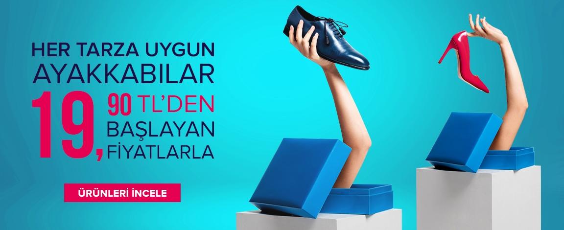 Ayakkabılar 19.90 TL