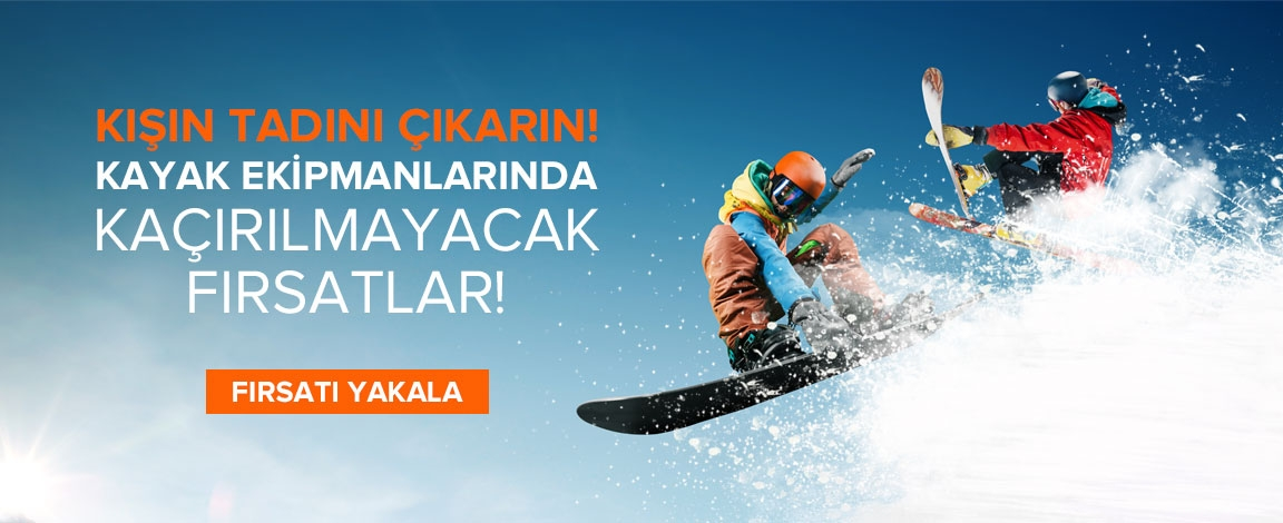 Kayak Ekipmanlarında Büyük Fırsat