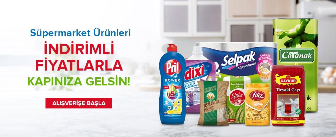 Süpermarket Ürünleri Tek Tıkla Kapınıza Gelsin !!!