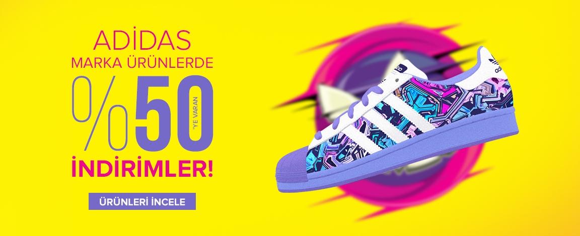 Adidas Markalı Ürünlerde %50