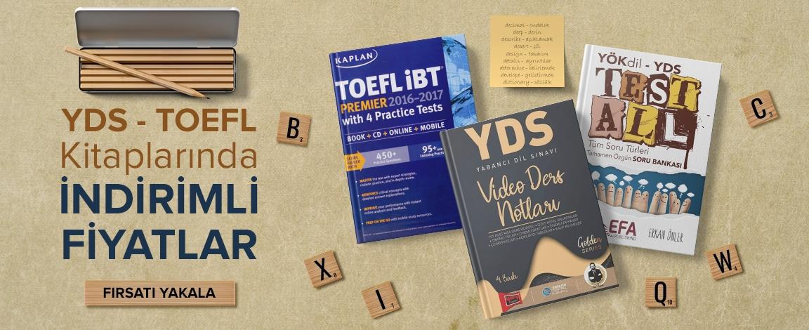 YDS -TOEFL Kitaplarıda İndirimli Fiyatlar