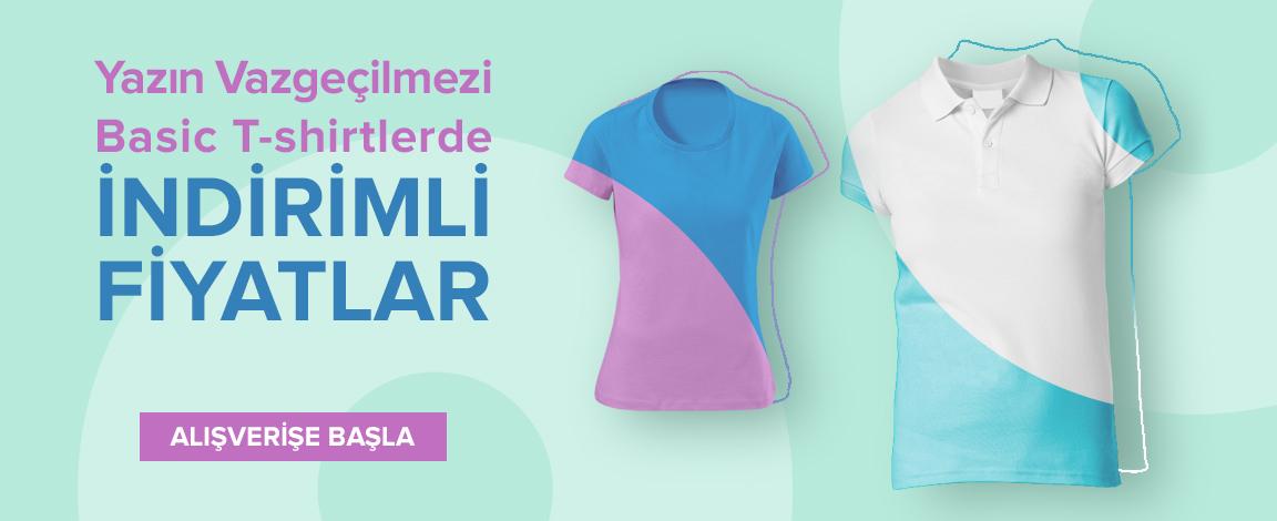 Yazın Vazgeçilmezi Basic T-shirtlerde İndirimli Fiyatlar
