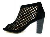 Punto 547566 Siyah Tek Bantlı Bayan Sandalet Ayakkabı-3