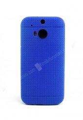 Mavi Noktalı ve Desenli HTC One M8 Silikon Kılıf