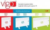 Vigo Dijital 2500 Watt Beyaz Elektrikli Panel Konvektör Isıtıcı EPK4590E25B-3