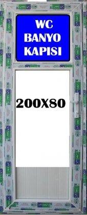 80X200 BUZLU CAM WC VE BANYO KAPISI