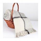 Wool Battaniye Gri Krem