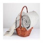 Wool Battaniye Gri