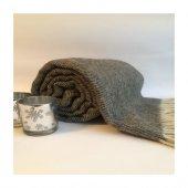 Wool Gri Balık Sırtı Tv Battaniyesi