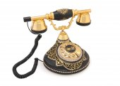 Antik Damla Siyah Varaklı Swarovski Telefon