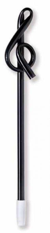 Sol Anahtar Başlıklı Tükenmez Kalem Siyah