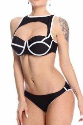 özel Tasarım Arkadan Birleşik Fermuarlı Mayokini Bikini