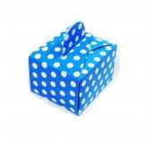 mevlüt şekeri mavi puanlı renk) lokumluk kınalık hediyelik kare kutular. pakette 50 adet vardır (mavi puanlı renk)