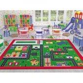 Confetti Town 100x150 Cm Anaokulu & Çocuk Odası Oyun Halısı