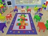 Confetti Game Seksek 133x190 Cm Anaokulu & Çocuk Odası Oyun Halısı