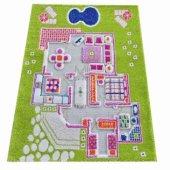 Ivi 80x113 Çocuk Odası Evcilik Yeşil Oyun Halısı