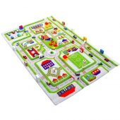Ivi 134x180 Trafik Yeşil Çocuk Odası Oyun Halısı