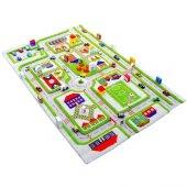 Ivi 80x113 Trafik Yeşil Çocuk Odası Oyun Halısı