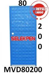 80x200 Mavi Dolu Demir Kapı