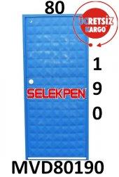 80x190 Mavi Dolu Demir Kapı