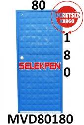 80x180 Mavi Dolu Demir Kapı