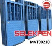 90x210 Mavi Tek Saç Demir Kapı Camsız