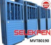 80x190 Mavi Tek Saç Demir Kapı Camsız
