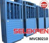 80x210 Mavi Çift Saç Demir Kapı Camsız
