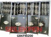 90x200 Göbekli Ferforje Demir Kapı Camsız