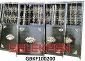 100x200 Göbekli Ferforje Demir Kapı Camsız
