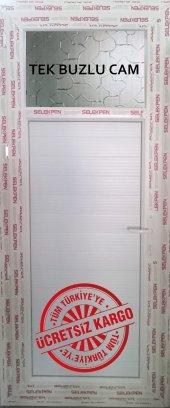 80x200 Pvc Wc Banyo Kapısı Camlı