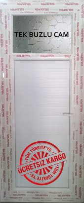90x190 Pvc Wc Banyo Kapısı Camlı