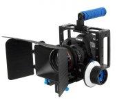 DSLR için Camera Cage + Follow Focus + Matte Box